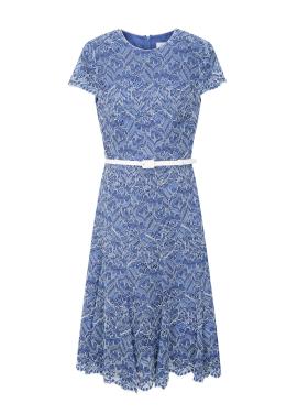 Pattern Lace Belt Dress