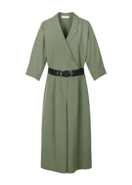 Simple Jumpsuit Khaki Dress