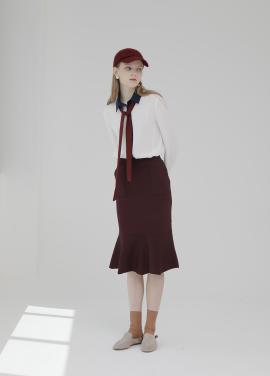 ◆Knit Peplum Skirt