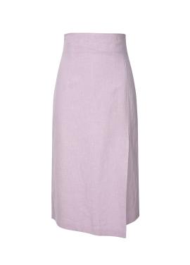 Unbalance Tulip Linen Skirt