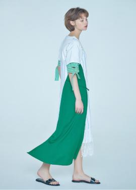 [려원 원피스★ 20%할인/CLUE DE CLARE] lace detail onepiece Green