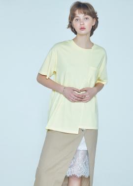 [황정음 착용★CLUE DE CLARE] unbalance T-shirt Yellow