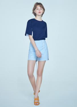 [5%할인+7%쿠폰/CLUE DE CLARE] side placket short pants Blue