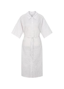 [시즌오프 30%할인/COMING STEP]Stripe Shirts Robe Dress