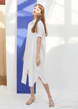 [단독 25%할인/ANEDIT] J STRIPE SHIRTS DRESS_WH