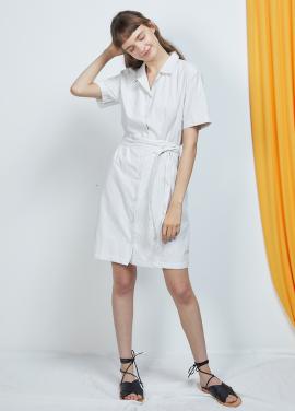 [단독 25%할인/ANEDIT] J OP COLLAR DRESS_WH