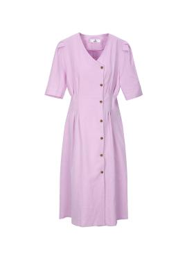 Pintuck Button Linen Dress [주문폭주]