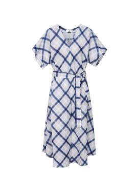 Big Check Linen Dress