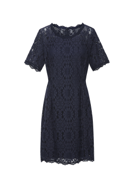 Pattern Lace Slim Fit Dress