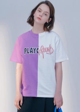 [시즌오프30%할인/BLANK]PLAY GROUND T-PURPLE