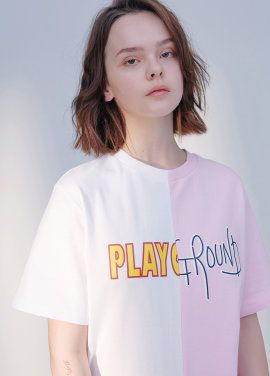 [시즌오프30%할인/BLANK]PLAY GROUND T-PINK