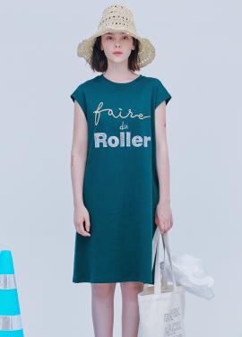 [시즌오프30%할인/BLANK]ROLLER SUMMER DRESS-GREEN