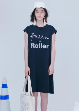 [시즌오프30%할인/BLANK]ROLLER SUMMER DRESS-BLACK