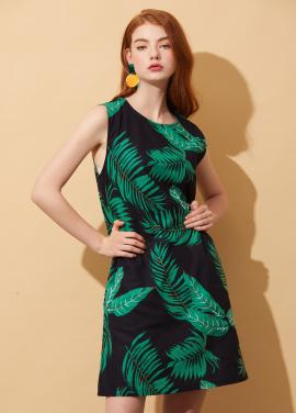 [10%할인+5%쿠폰/AHINEDITION]BROADLEAVED LINEN DRESS