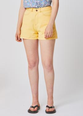 [25%할인/RYUL WAI]YELLOW STITCH COTTON SHORT PANTS