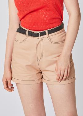[25%할인/RYUL WAI]BEIGE STITCH COTTON SHORT PANTS