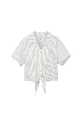 Stripe Ribbon Shirts