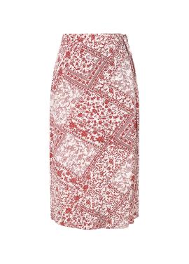 Paisley Patten Wrap Skirt