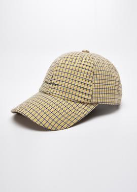 [5%할인/EVAN LA FORET] EVAN LOGO CHECK CAP_YELLOW CHECK