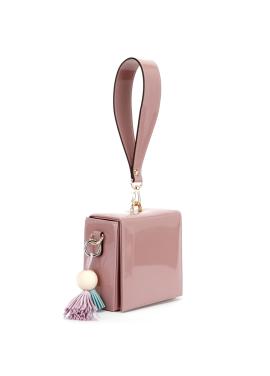 [10%할인/OFF THE RECORD]Block box Bag_M PINK