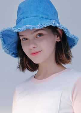 [시즌오프20%할인/BLANK]WASHING DENIM HAT-BLUE