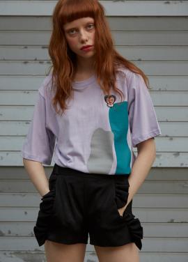 [단독★5%할인/Sorry, Too Much Love] color block tee_purple