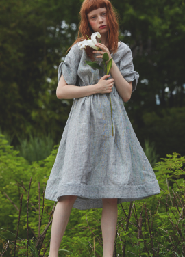 [단독 7%할인/Sorry, Too Much Love] lady linen dress_gray
