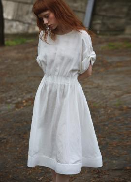 [단독 7%할인/Sorry, Too Much Love] lady linen dress_white