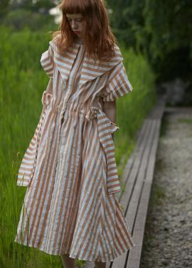 [단독 7%할인/Sorry, Too Much Love] stripe robe dress_beige