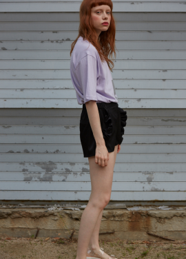[단독 7%할인/Sorry, Too Much Love] ruffle shorts_black