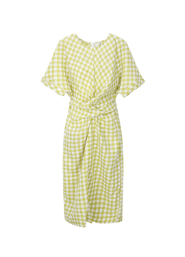 Check Patterned Linen Dress