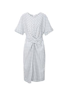 Check Patterned Linen Dress