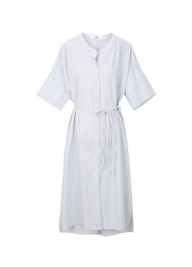 Henley Neck Stripe Dress