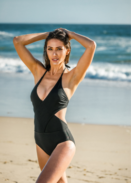 [30%할인/Chae Look]TWO WRAP COLOR MONOKINI_BLACK