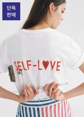 [★인터뷰 단독상품 특가 30%할인+무료배송★THE ASHLYNN] [SELF-LOVE] LOGO T SHIRT_WHITE