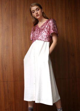 [30%할인/THE ASHLYNN] ELE SEQUINED TOP SHIRT DRESS