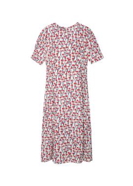 Red Flower Pattern Dress