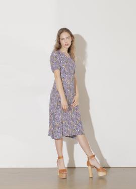 V Neck Pattern Dress