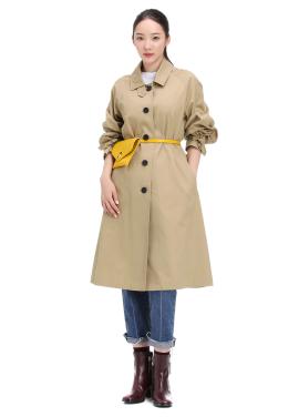 [★단독프리오더] Ribbon Sleeve Belt Trench Coat