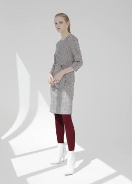 [온라인 전용상품]체크패턴 벨티드 드레스 [51%]