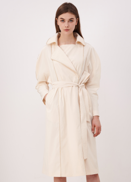 [10%할인/CAHIERS]Puff Sleeve Trench Coat