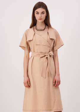 [10%할인/CAHIERS]Detail Collar Dress