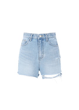 [20%할인/COMING STEP]Cutting Short Denim Pants
