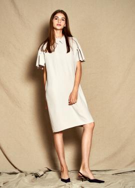 [30%할인/The Kstory] Collar Frill Dress_ Beige
