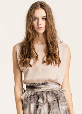 [10%할인/CAHIERS]Asymmetric blouse