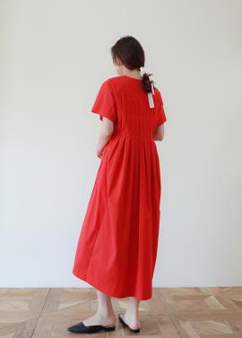 [40%할인/FOCEPS] Back pleats long dress