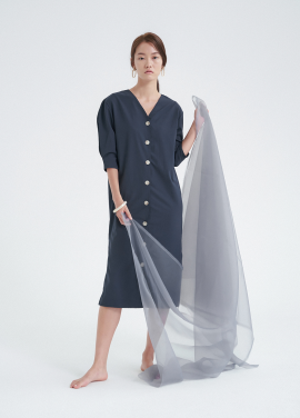 [5%할인/NOTA] CAPSULE ROBE DRESS_NAVY