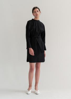 [신규런칭10%/biscuitshop] Reversible Belted Long Dress