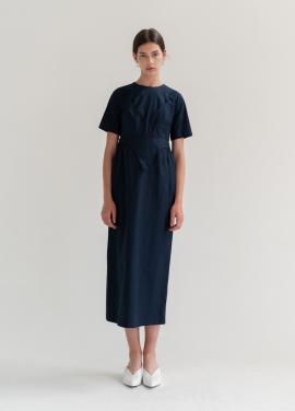 [신규런칭10%/biscuitshop] Underwear Detailed Half Sleeve Dress
