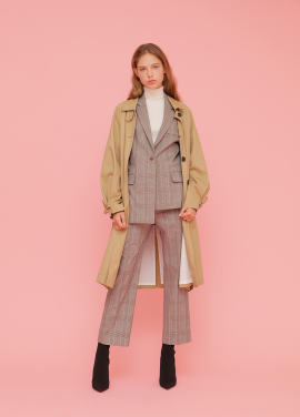 Perfect-Fit Suit With Trench Coat